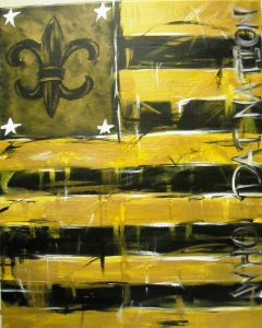 Who Dat Say We Gona Paint The Saints Louisiana Art